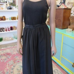 Women's Black Silk Skirt Size 16